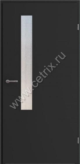 тамбурные металлические двери со стеклопакетом эконом класса