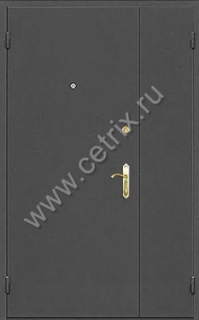 тамбурная стальная дверь с порошковым покрытием