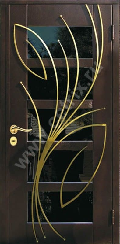 металлические двери со стеклом и ковкой раменское