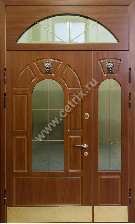 металлическая дверь со вставкой мдф снаружи