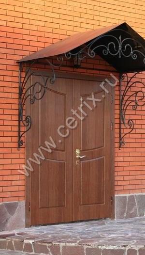 уличная металлические двери на дачу