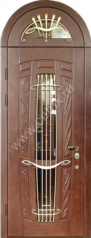 купить стальную бронированную элитную дверь с декором в интернет магазине
