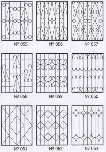 эскизы сварных решеток:
