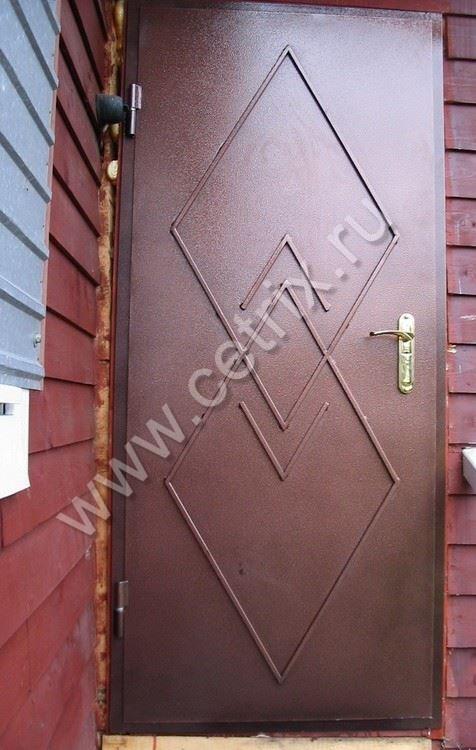 металлическая дверь изготовить дома
